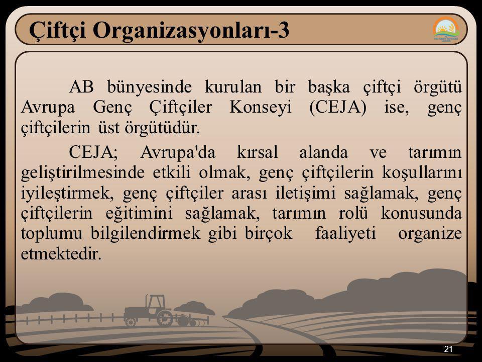 Çiftçi Organizasyonları-3