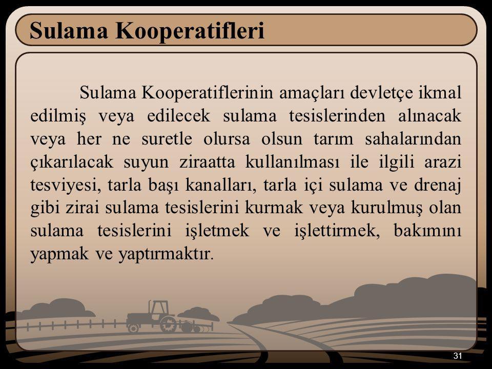 Sulama Kooperatifleri