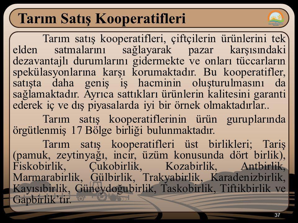 Tarım Satış Kooperatifleri