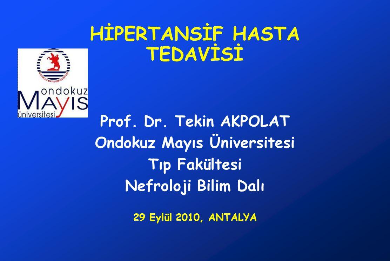 HİPERTANSİF HASTA TEDAVİSİ