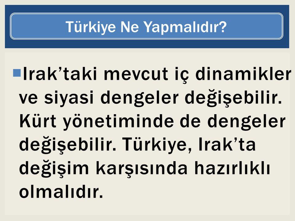 Türkiye Ne Yapmalıdır