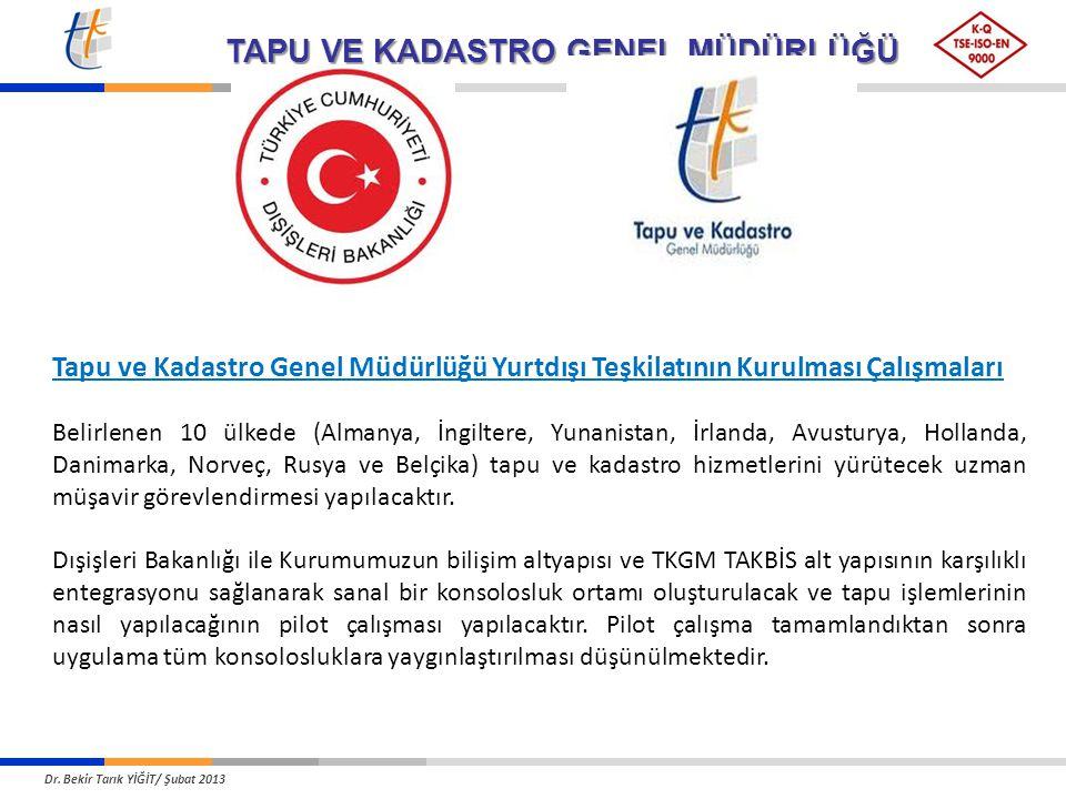 Tapu ve Kadastro Genel Müdürlüğü Yurtdışı Teşkilatının Kurulması Çalışmaları