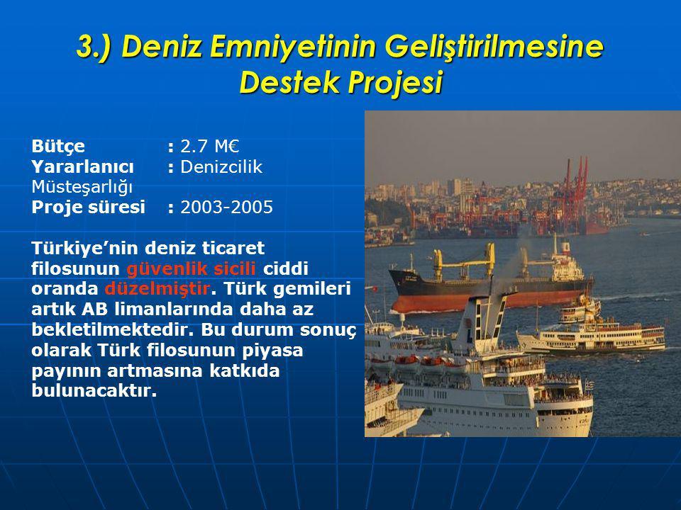 3.) Deniz Emniyetinin Geliştirilmesine Destek Projesi