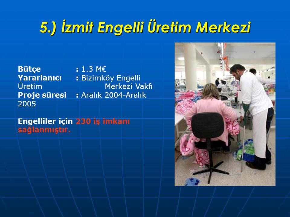 5.) İzmit Engelli Üretim Merkezi