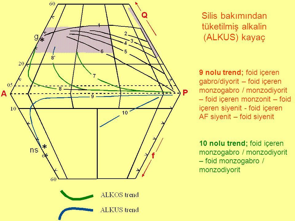 Silis bakımından tüketilmiş alkalin (ALKUS) kayaç