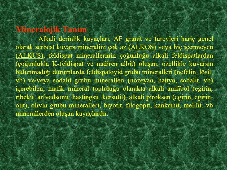 Mineralojik Tanım