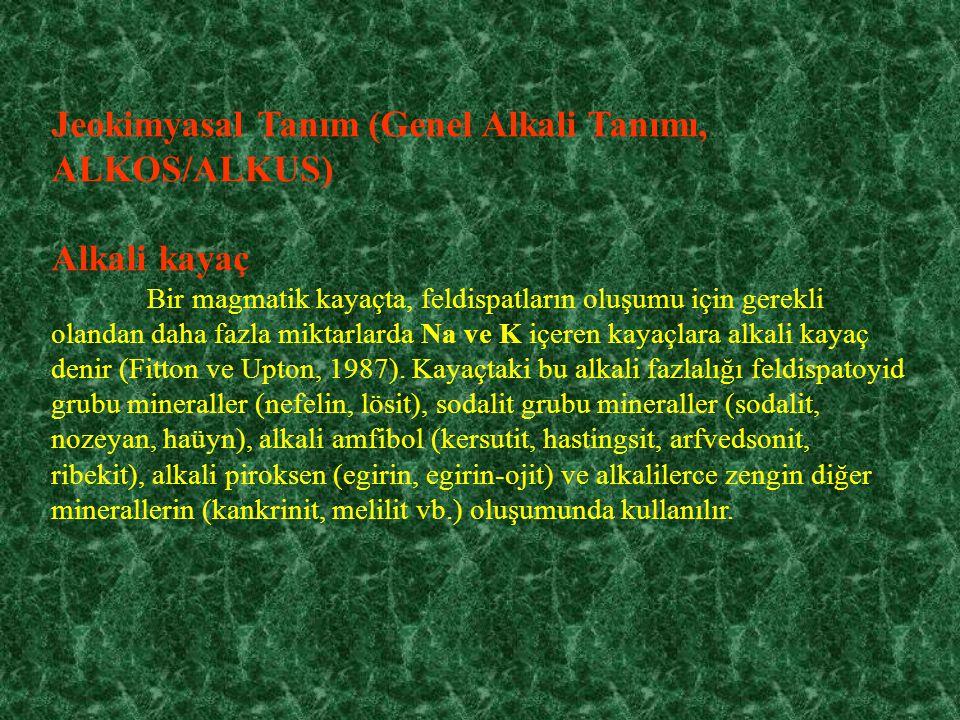 Jeokimyasal Tanım (Genel Alkali Tanımı, ALKOS/ALKUS)
