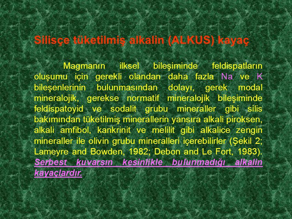 Silisçe tüketilmiş alkalin (ALKUS) kayaç