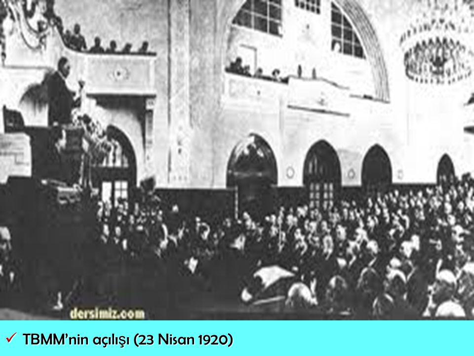 TBMM'nin açılışı (23 Nisan 1920)