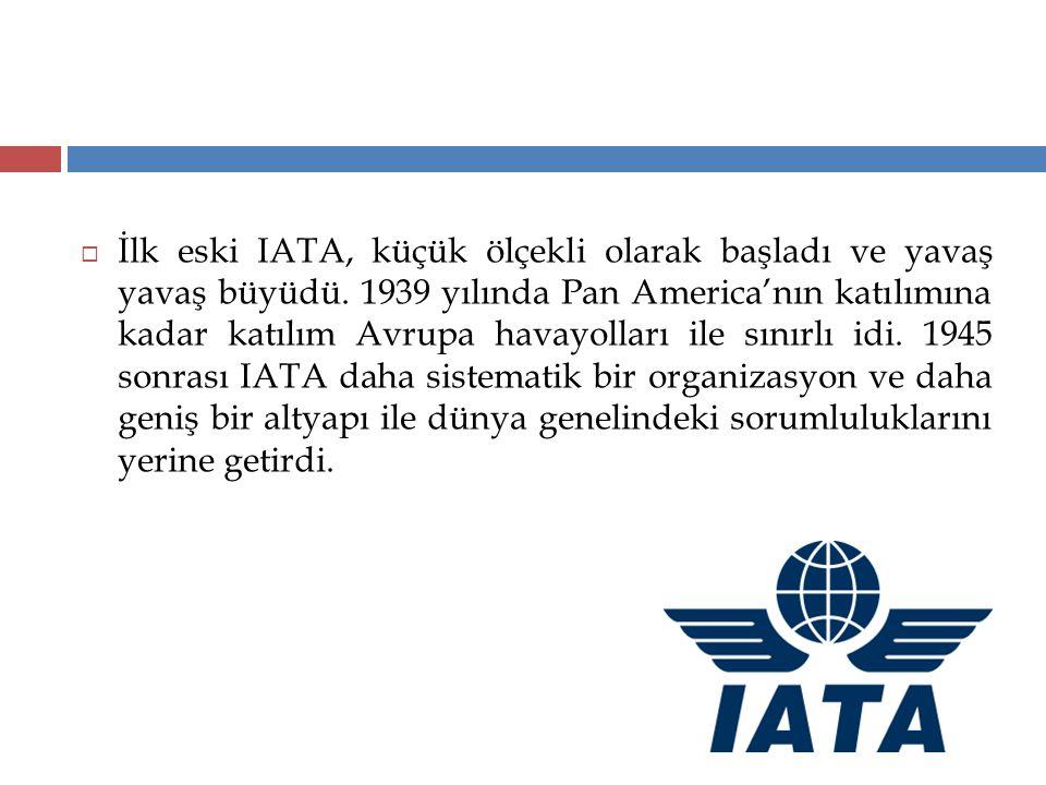İlk eski IATA, küçük ölçekli olarak başladı ve yavaş yavaş büyüdü