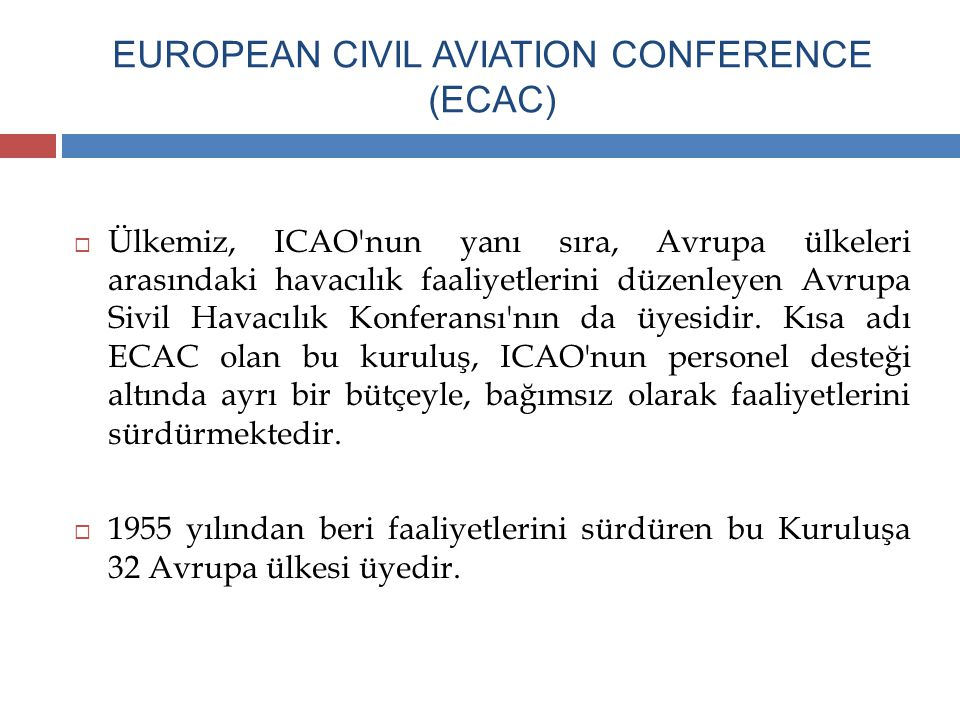 EUROPEAN CIVIL AVIATION CONFERENCE (ECAC)