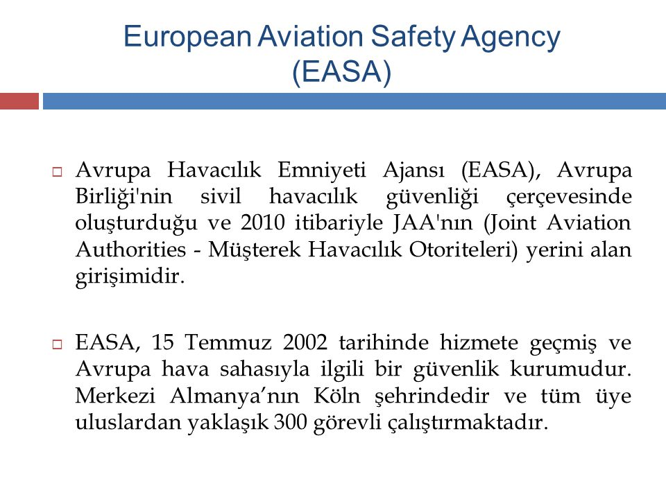 European Aviation Safety Agency (EASA)