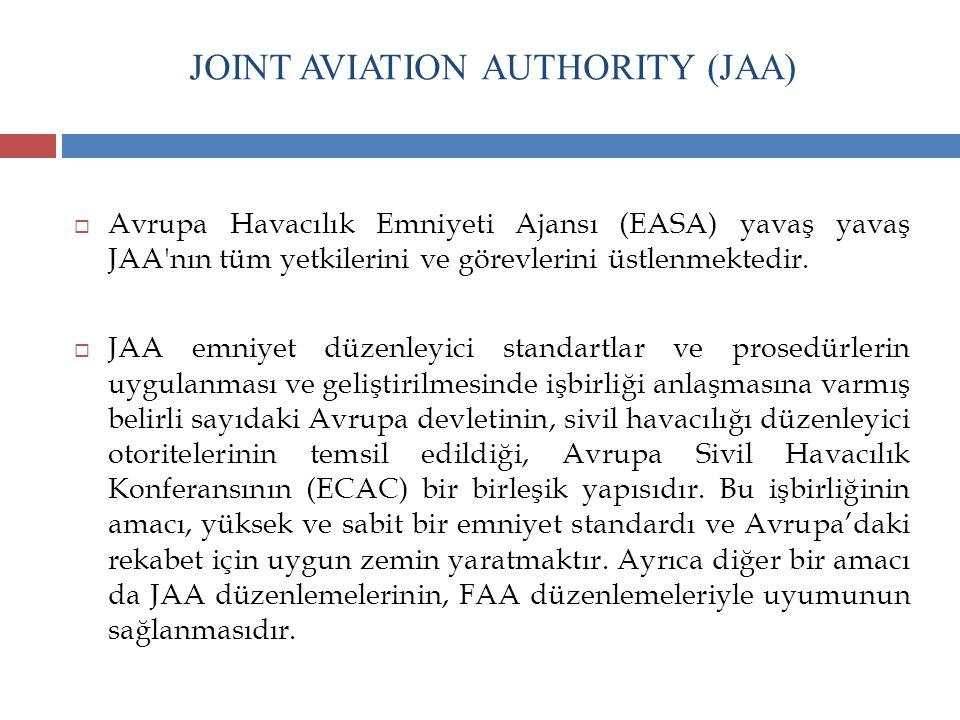 JOINT AVIATION AUTHORITY (JAA)