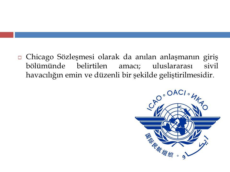 Chicago Sözleşmesi olarak da anılan anlaşmanın giriş bölümünde belirtilen amacı; uluslararası sivil havacılığın emin ve düzenli bir şekilde geliştirilmesidir.