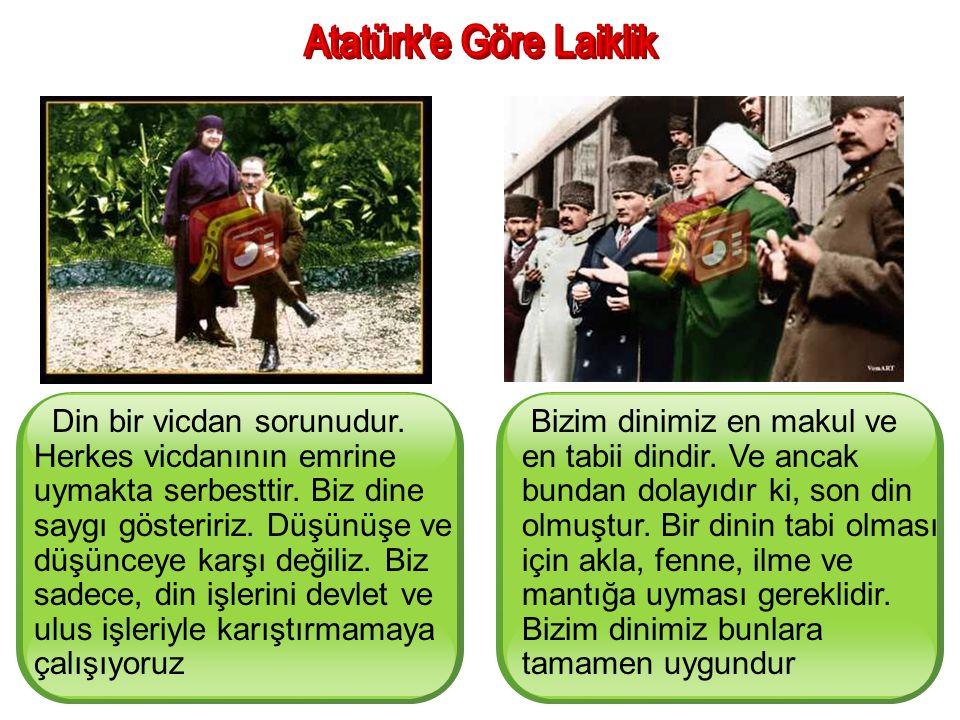 Atatürk e Göre Laiklik