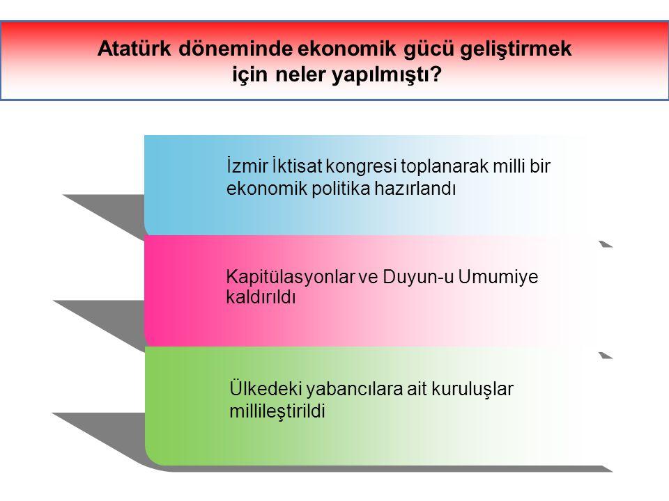 Atatürk döneminde ekonomik gücü geliştirmek