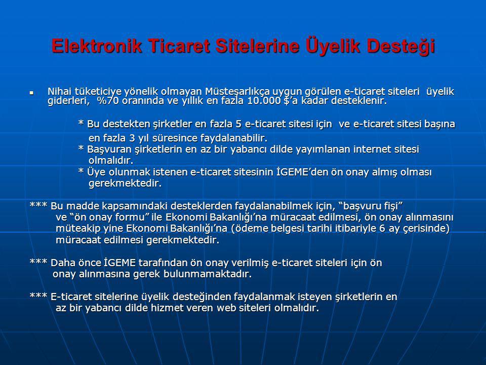 Elektronik Ticaret Sitelerine Üyelik Desteği
