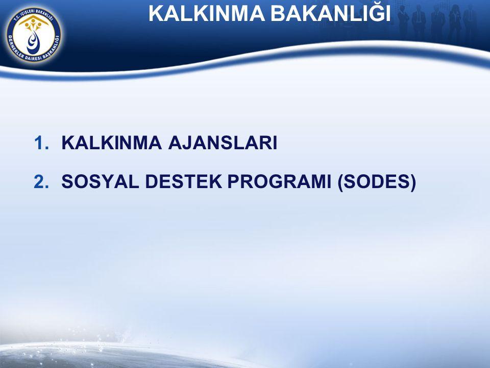 KALKINMA BAKANLIĞI KALKINMA AJANSLARI SOSYAL DESTEK PROGRAMI (SODES)
