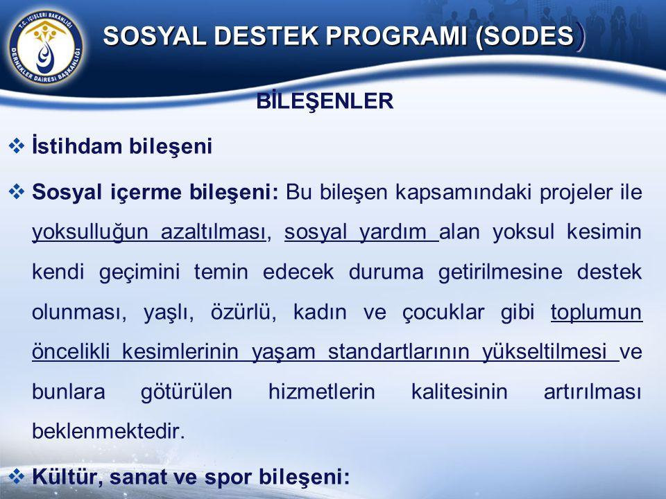 SOSYAL DESTEK PROGRAMI (SODES)