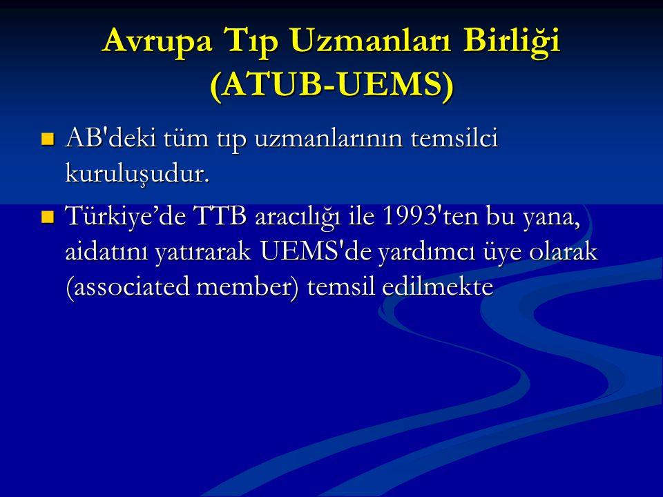 Avrupa Tıp Uzmanları Birliği (ATUB-UEMS)