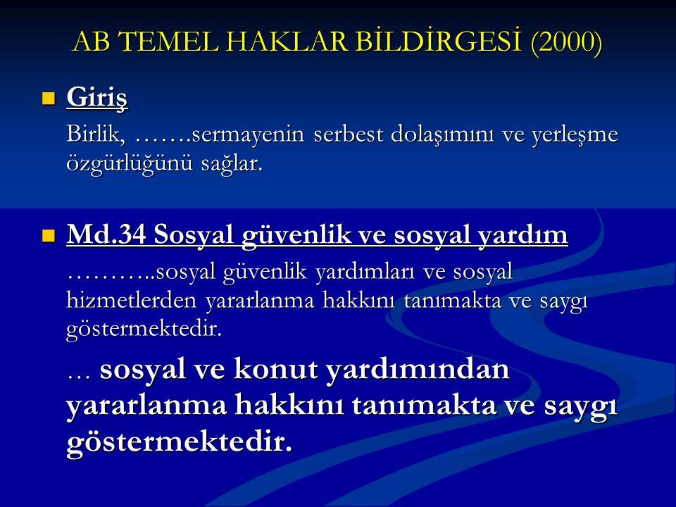 AB TEMEL HAKLAR BİLDİRGESİ (2000)