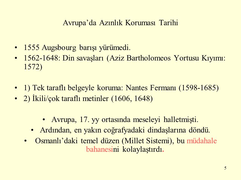 Avrupa'da Azınlık Koruması Tarihi