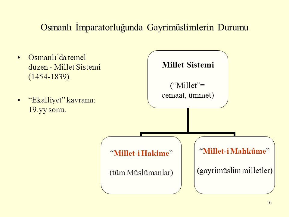 Osmanlı İmparatorluğunda Gayrimüslimlerin Durumu