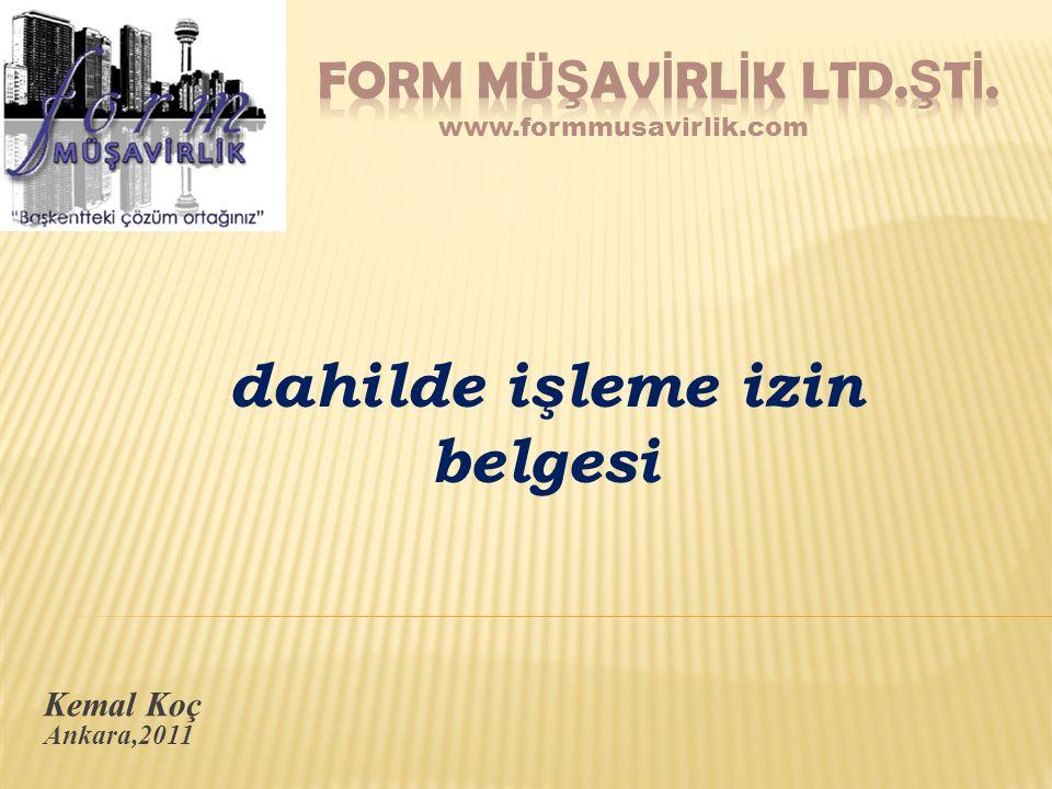 FORM MÜŞAVİRLİK LTD.ŞTİ.
