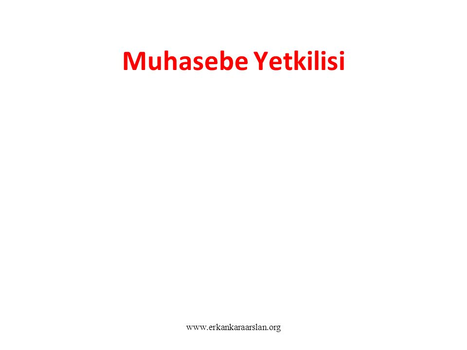 Muhasebe Yetkilisi www.erkankaraarslan.org