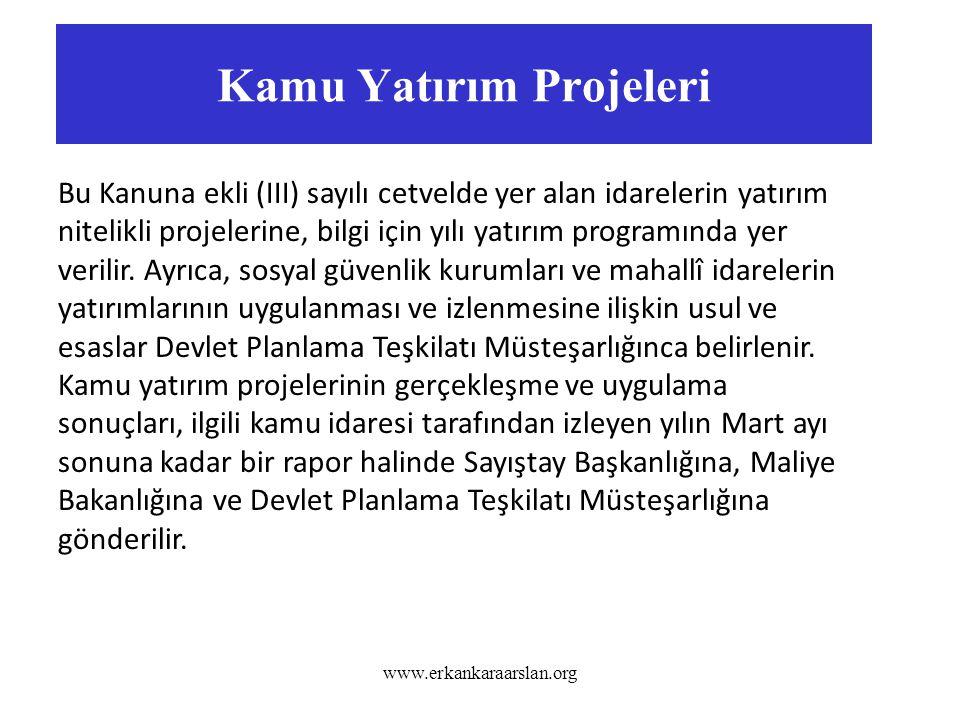 Kamu Yatırım Projeleri