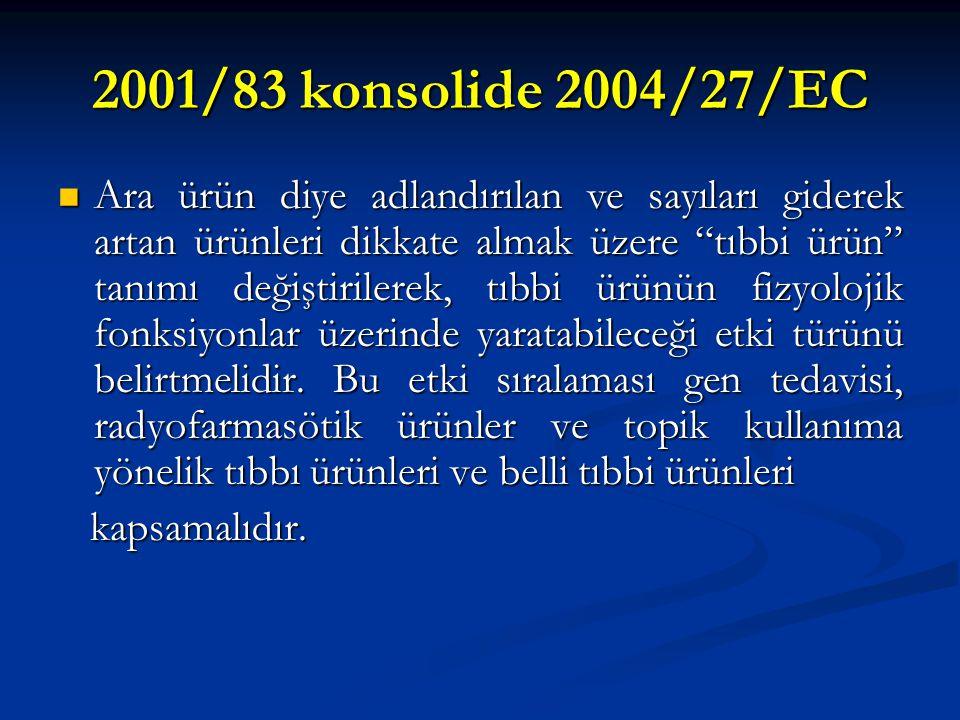 2001/83 konsolide 2004/27/EC