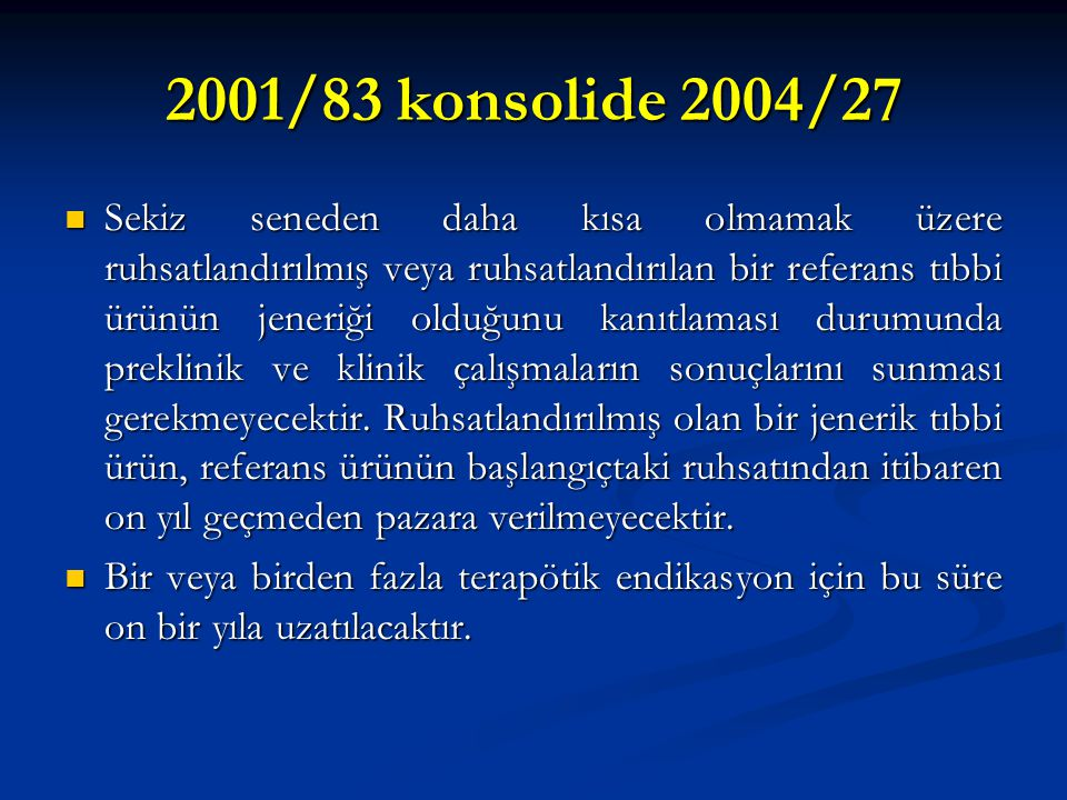 2001/83 konsolide 2004/27