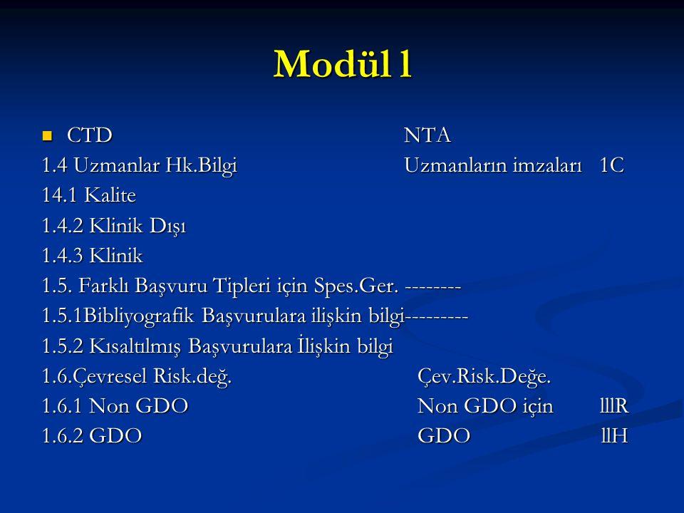 Modül l CTD NTA 1.4 Uzmanlar Hk.Bilgi Uzmanların imzaları 1C