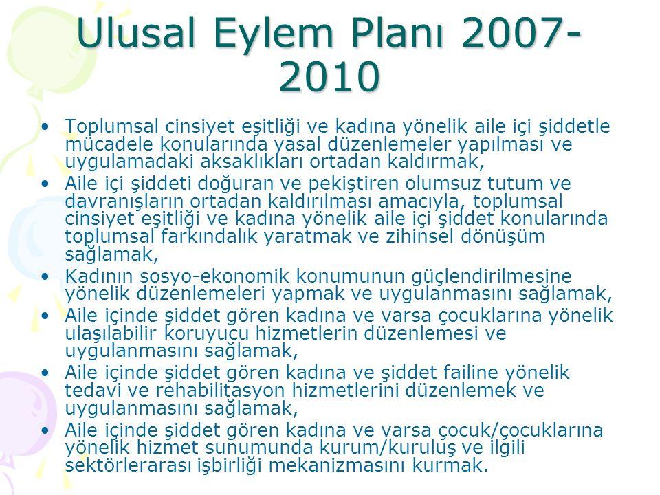 Ulusal Eylem Planı 2007-2010