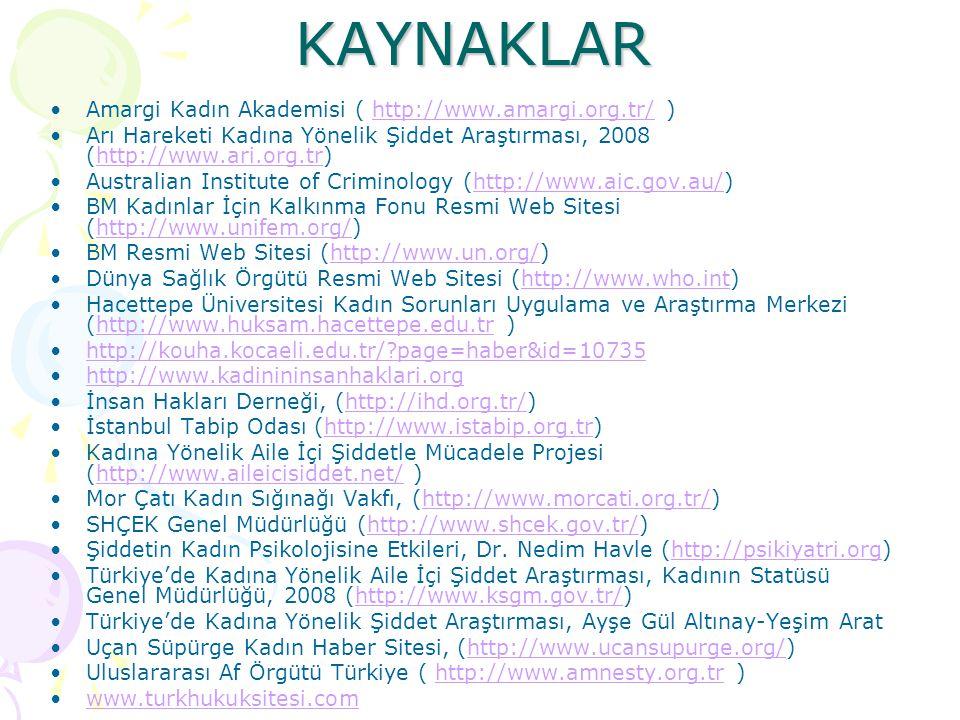 KAYNAKLAR Amargi Kadın Akademisi ( http://www.amargi.org.tr/ )