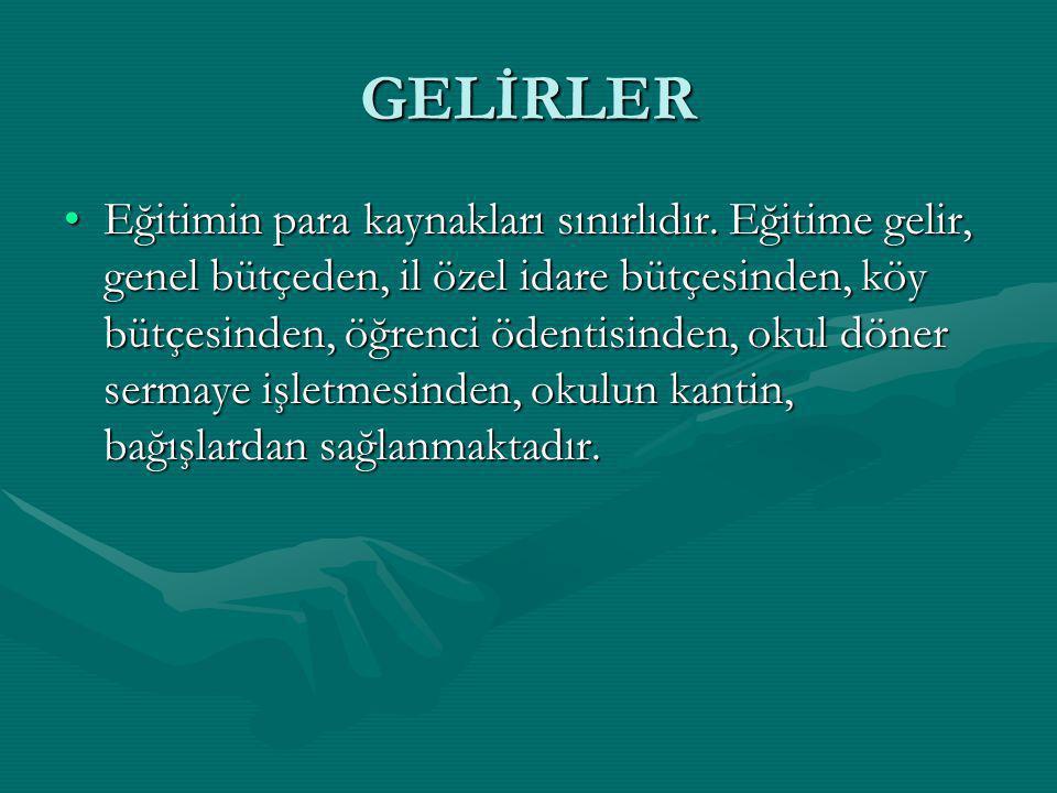 GELİRLER