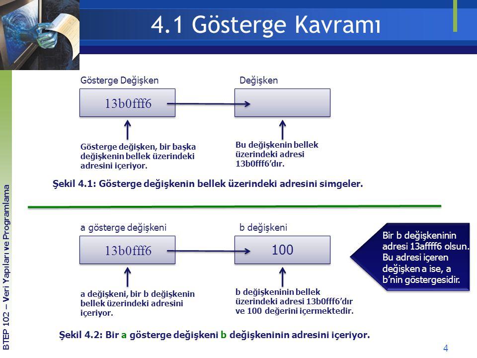 4.1 Gösterge Kavramı 13b0fff6 13b0fff6 100 Gösterge Değişken Değişken