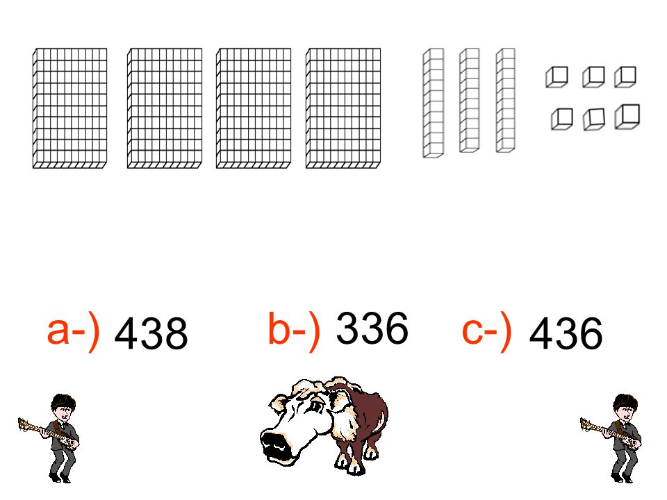 a-) b-) 336 c-) 438 436 436