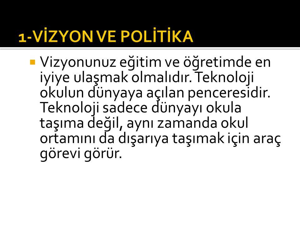 1-VİZYON VE POLİTİKA