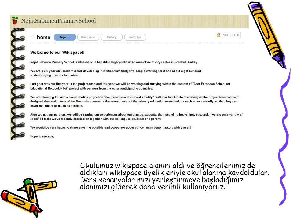 Okulumuz wikispace alanını aldı ve öğrencilerimiz de aldıkları wikispace üyelikleriyle okul alanına kaydoldular.