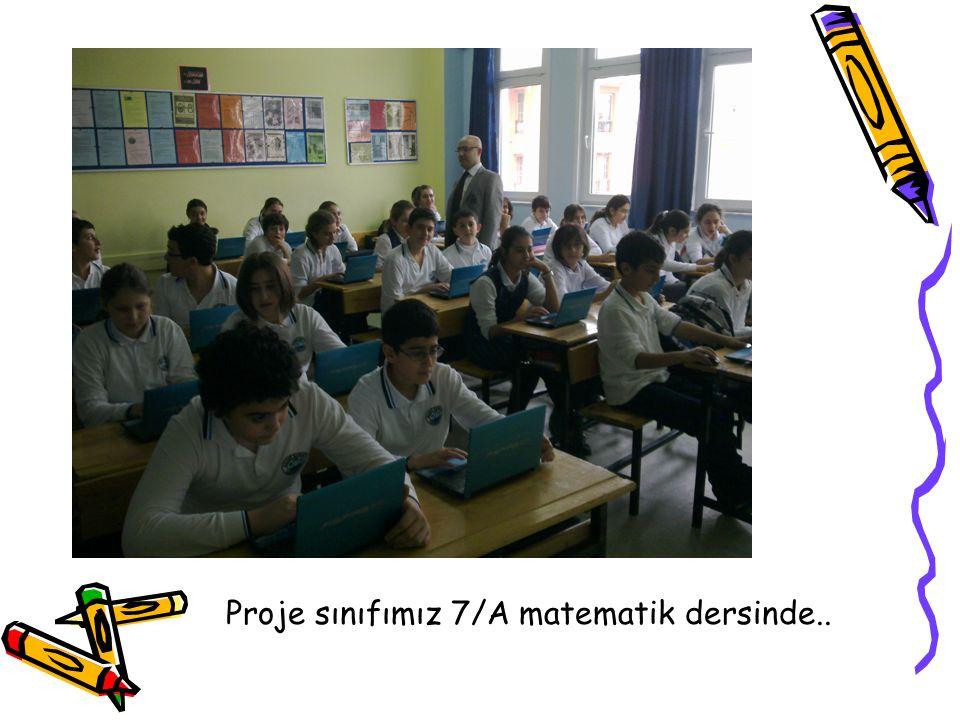 Proje sınıfımız 7/A matematik dersinde..
