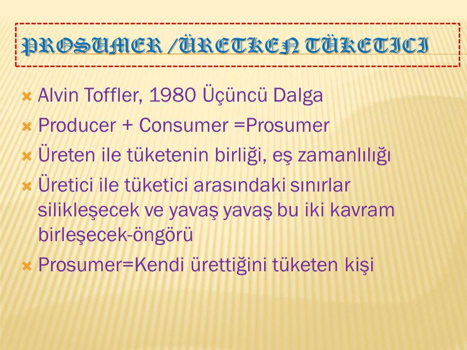 PROSUMER /Üretken Tüketici