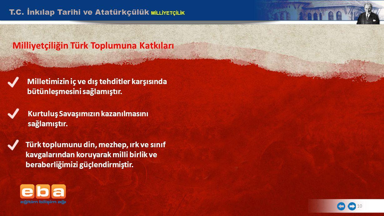 Milliyetçiliğin Türk Toplumuna Katkıları
