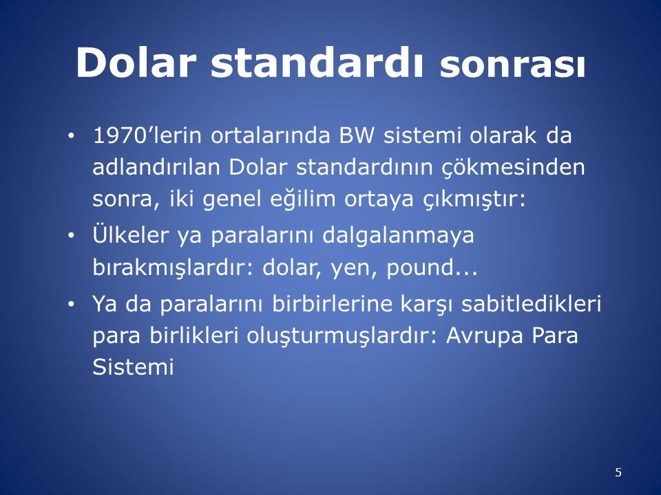 Dolar standardı sonrası