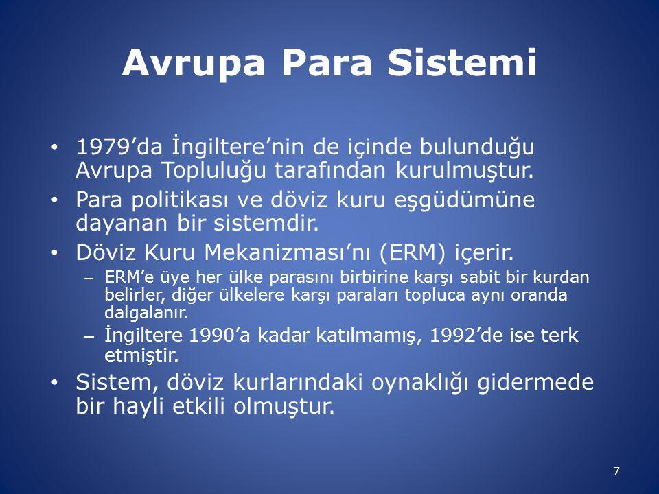 Avrupa Para Sistemi 1979'da İngiltere'nin de içinde bulunduğu Avrupa Topluluğu tarafından kurulmuştur.