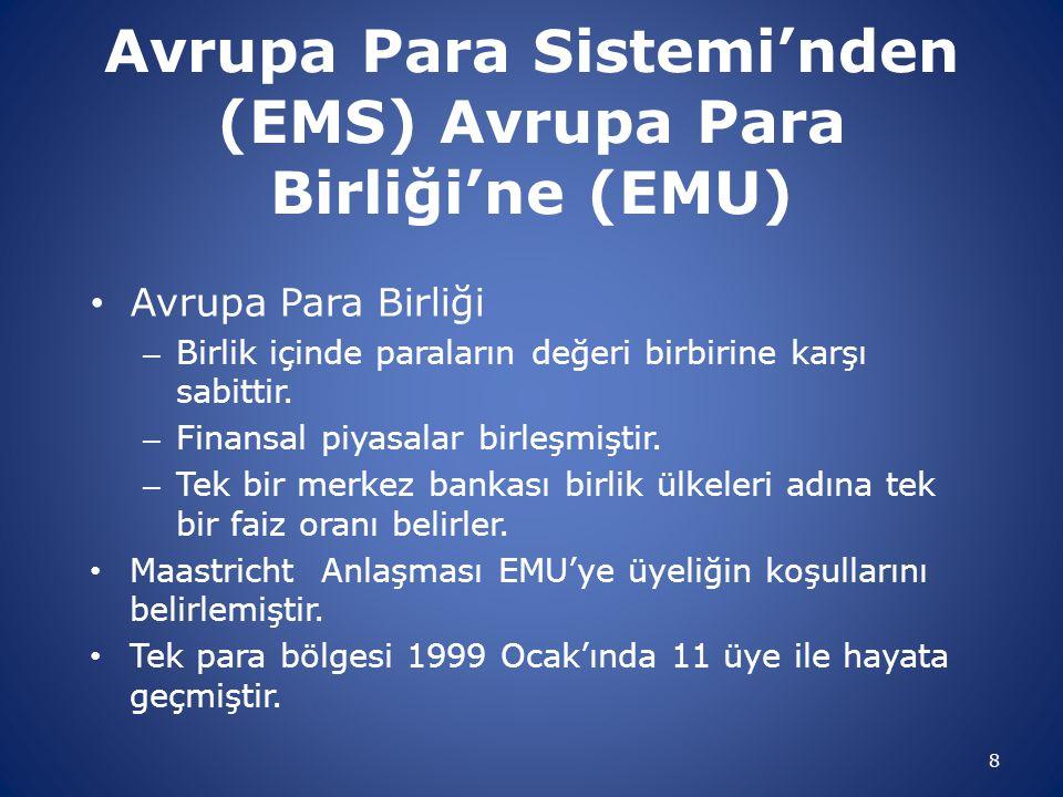 Avrupa Para Sistemi'nden (EMS) Avrupa Para Birliği'ne (EMU)