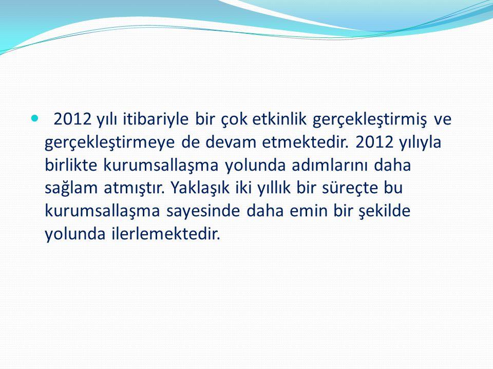 2012 yılı itibariyle bir çok etkinlik gerçekleştirmiş ve gerçekleştirmeye de devam etmektedir.