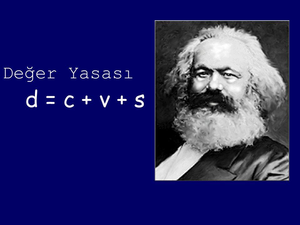 Değer Yasası d = c + v + s