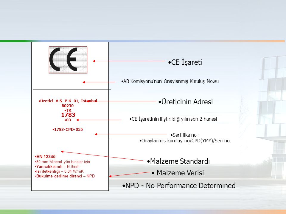 NPD - No Performance Determined Malzeme Standardı