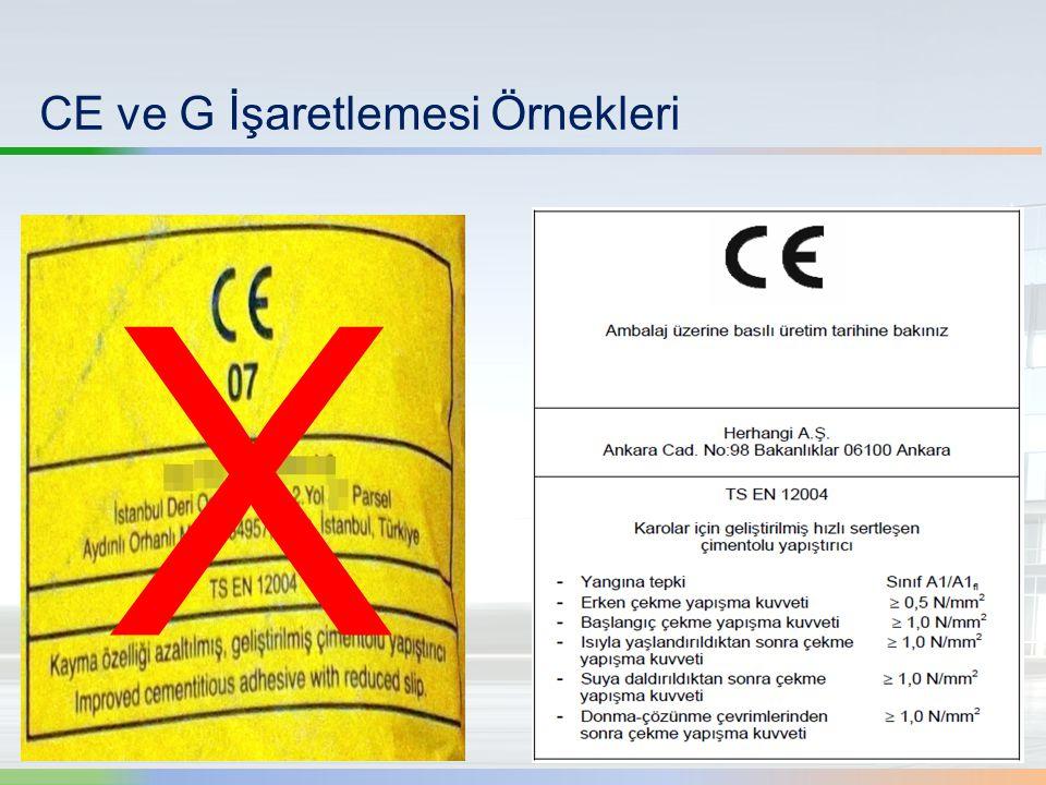 CE ve G İşaretlemesi Örnekleri